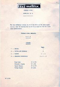 Servizio e manuale utente Metrix 931 H