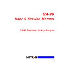 Service and User Manual Metron QA-90