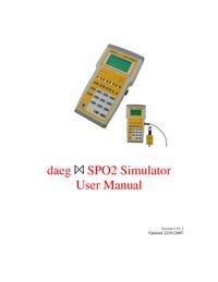 User Manual Metron daeg SPO2 Simulator