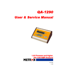 Service and User Manual Metron QA-1290