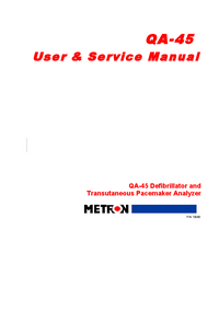 Service and User Manual Metron QA-45