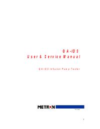 Servizio e manuale utente Metron QA-IDS