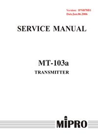 manuel de réparation MiPRo MT-103a