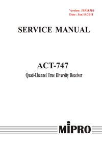 Instrukcja serwisowa MiPRo ACT-747