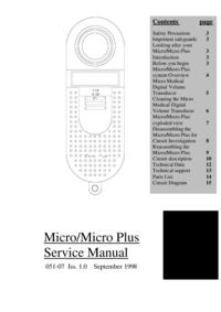 Instrukcja serwisowa MicroMedical Micro Plus