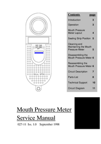 Serviceanleitung MicroMedical Mouth Pressure Meter