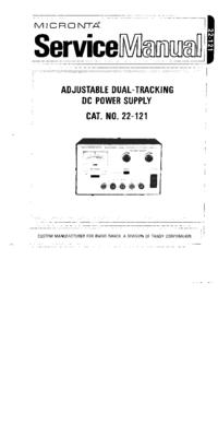 Serviceanleitung Micronta 22-121