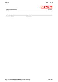 Part List Miele WS5107