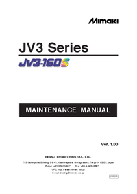 Service Manual Mimaki JV3-160S