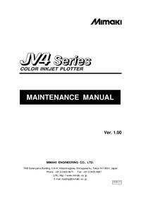 Руководство по техническому обслуживанию Mimaki JV4 Series
