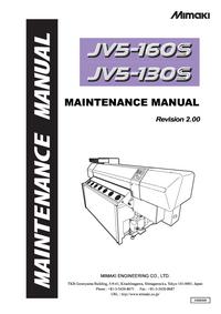 Руководство по техническому обслуживанию Mimaki JV5-130S