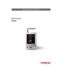 Service and User Manual Mindray Datascope Duo