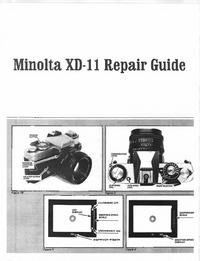 Servicehandboek Minolta XD-11