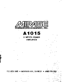 Mirage-9345-Manual-Page-1-Picture