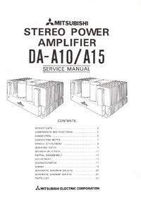 Servicehandboek Mitsubishi DA-15