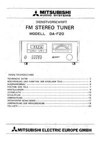 Servicehandboek Mitsubishi DA-F20