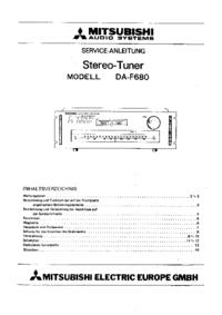 Servicehandboek Mitsubishi DA-F680