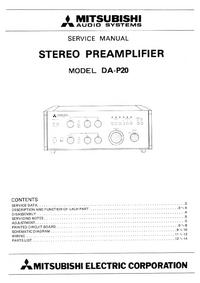 Servicehandboek Mitsubishi DA-P20