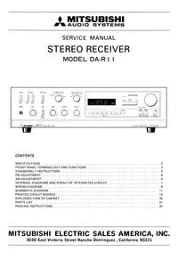 Servicehandboek Mitsubishi DA-R11