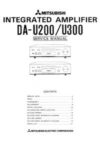 Руководство по техническому обслуживанию Mitsubishi DA-U200