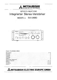 Servicehandboek Mitsubishi DA-U680