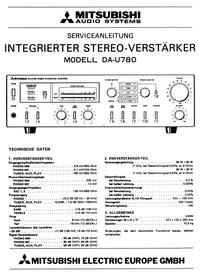Servicehandboek Mitsubishi DA-U780