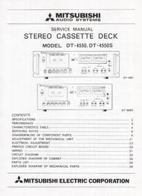Руководство по техническому обслуживанию Mitsubishi DT-4550