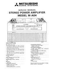 Servicehandboek Mitsubishi M-A04