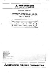 Servicehandboek Mitsubishi M-P01