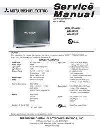 Руководство по техническому обслуживанию Mitsubishi WD-52526