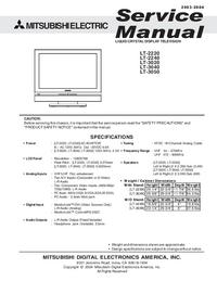 Service Manual Mitsubishi LT-3020