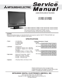 Service Manual Mitsubishi LT-3780