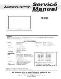 Instrukcja serwisowa Mitsubishi PD-6130