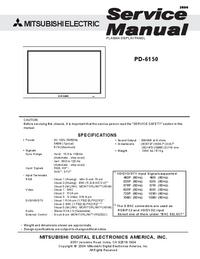 Service Manual Mitsubishi PD-6150