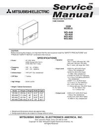 Manual de serviço Mitsubishi WS-A65