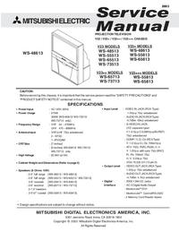 Instrukcja serwisowa Mitsubishi WS-73513