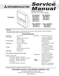 Service Manual Mitsubishi WS-65713