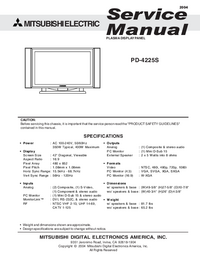Service Manual Mitsubishi PD-4225S