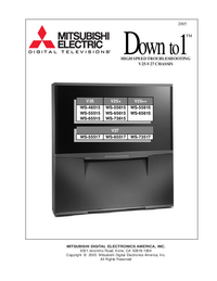 Service Manual - Mitsubishi WS-65815 - TV -- Download free service