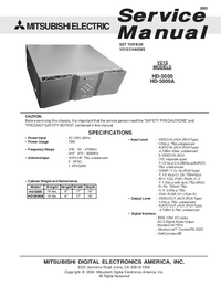 Instrukcja serwisowa Mitsubishi HD-5000