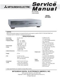 Руководство по техническому обслуживанию Mitsubishi HD-6000