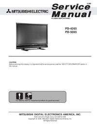 Service Manual Mitsubishi PD-4265