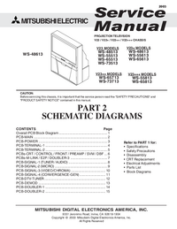 Service Manual, cirquit diagram only Mitsubishi WS-65813