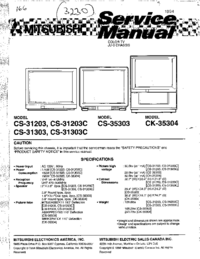 Manual de servicio Mitsubishi CS-35303