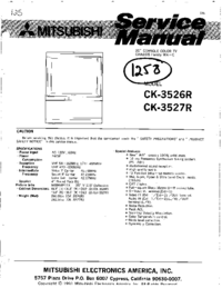 Instrukcja serwisowa Mitsubishi CK-3526R