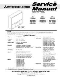 Serviceanleitung Mitsubishi WS-65907
