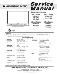 Instrukcja serwisowa Mitsubishi WD-73835