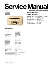 Service Manual Mitsubishi CQ-EB0260L