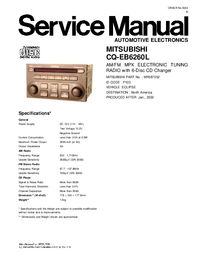 Руководство по техническому обслуживанию Mitsubishi CQ-EB6260L