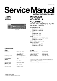 Manual de servicio Mitsubishi MR587387